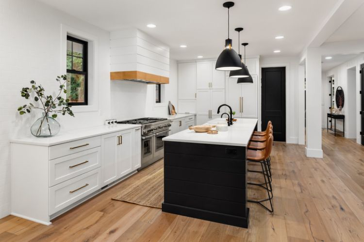 contemporary styled kitchen renovation at geelong carpenters